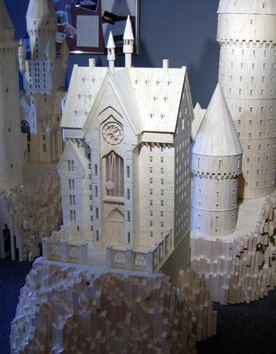 Hogwarts School Replicated In Matchsticks