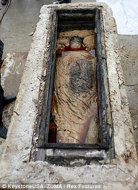 Preserved Mummy In Tomb