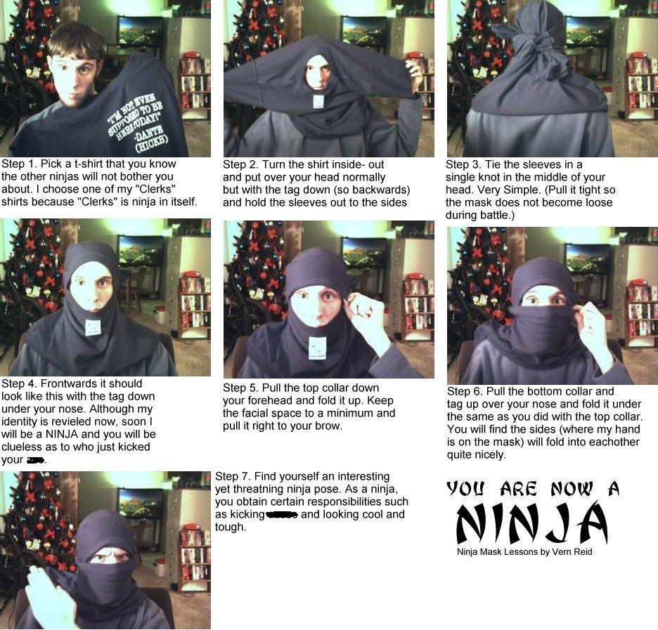 How To Become A Ninja Using Just A T-Shirt [Infographic]