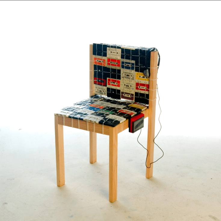 The Cassette Tape Chair Makes Your Life Even More Retro