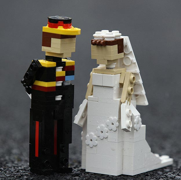 William and Kate in Lego