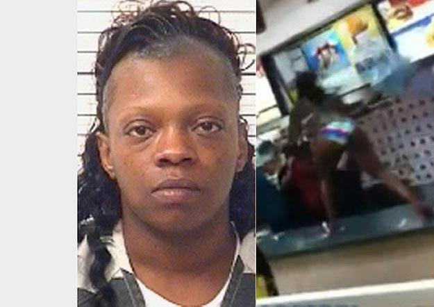 Woman Attacks At Burger King
