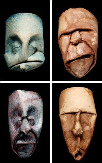 Toilet Paper Roll Faces Artwork