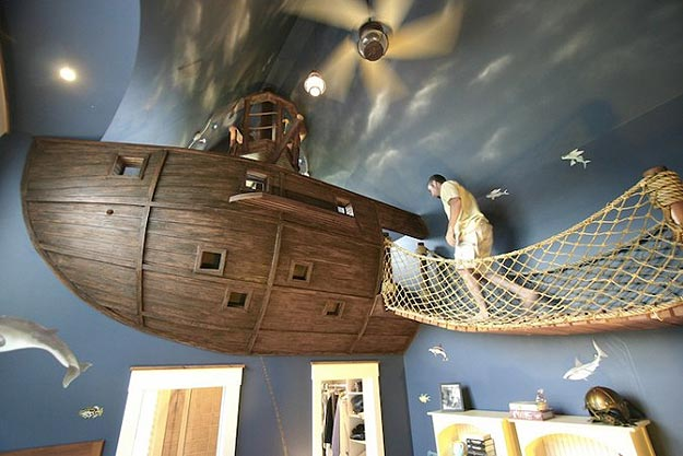 A Pirate Inspired Bedroom Build