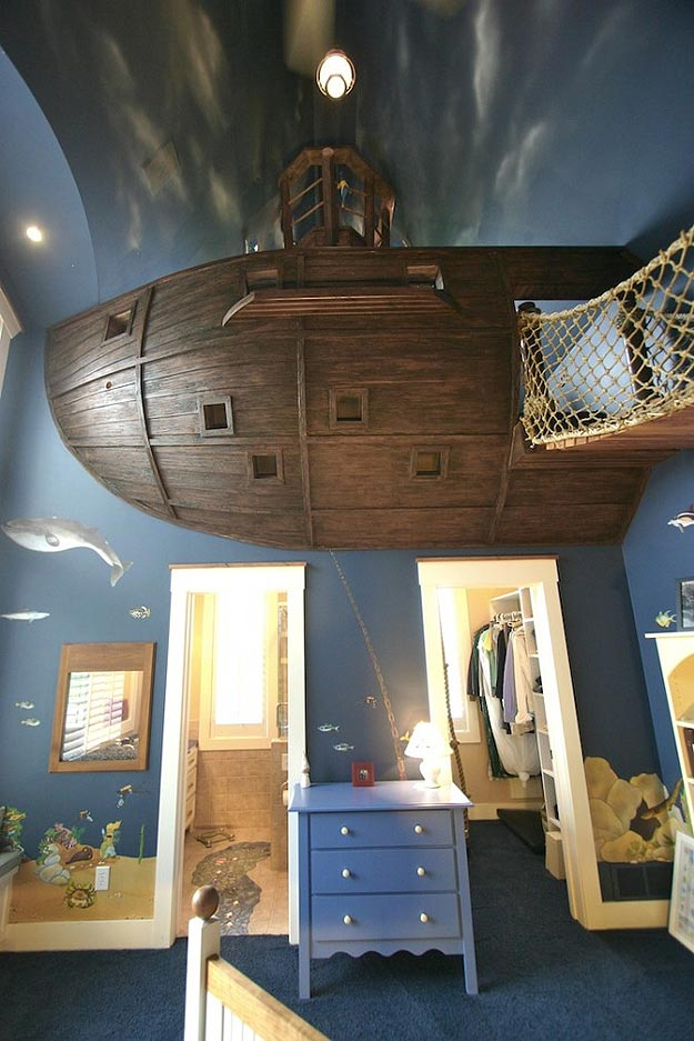 A Pirate Ship Bedroom Build