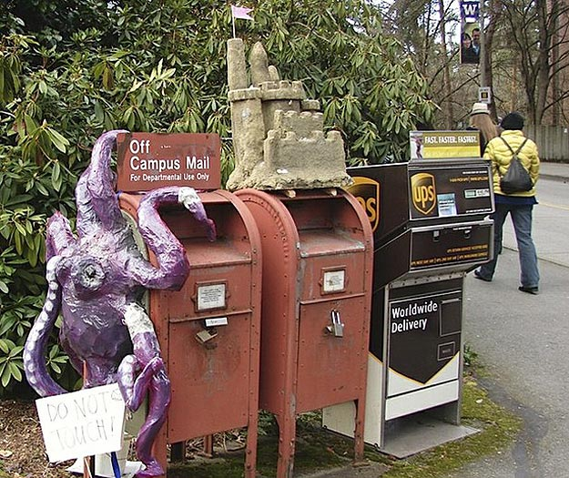 Art Students Decorate Mailboxes