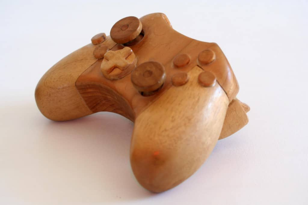 Wooden XBox Console Sculpture Design