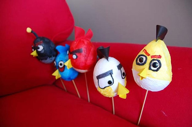 How To: Make Decorative Angry Birds Easter Eggs