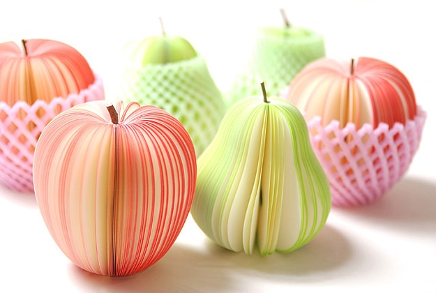 Fruit Shaped Post It Notes