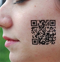 Scan Yourself: Geeky Barcode (QR Code) Tattoos