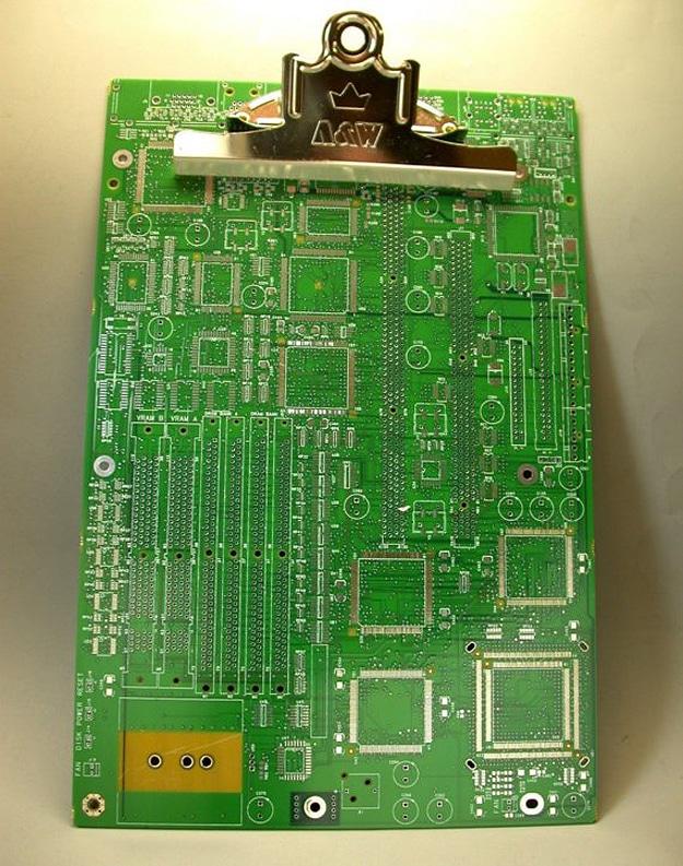 Circuit Board Office Clipboard