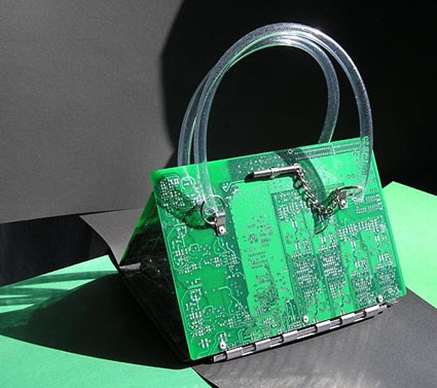 Circuit Board Handbag Purse