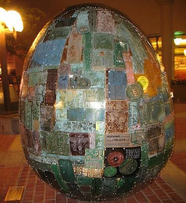 Circuit Board Egg Decoration