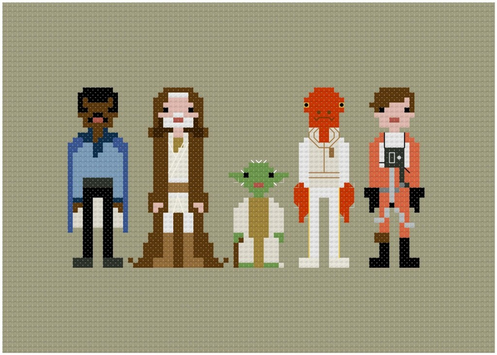 Cross Stitched Movie Character Artwork