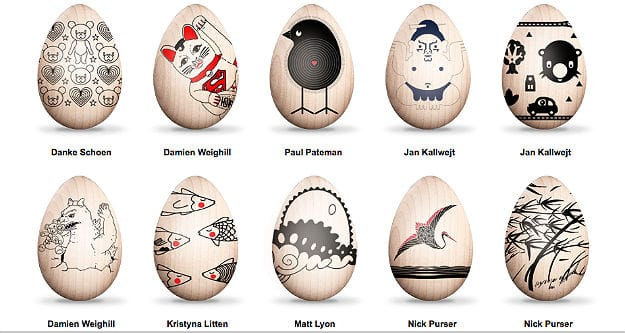 Eggs Designed by Various Artists