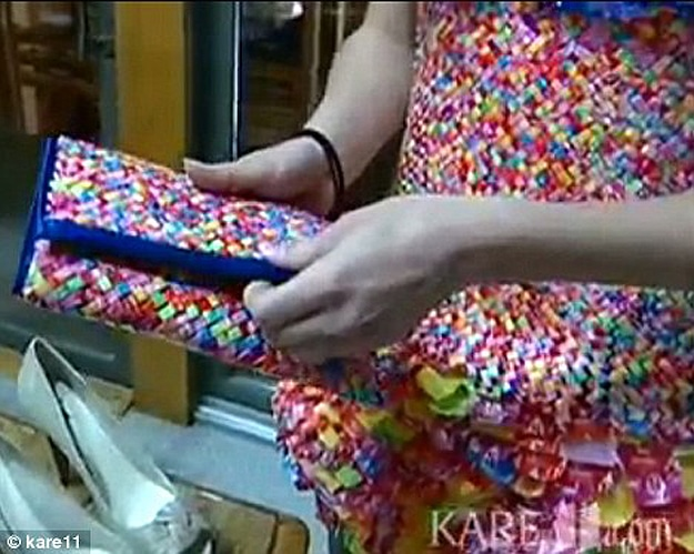 Prom Dress With Candy Wrappers