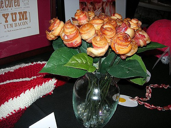 Beautiful Bacon Rose Bouquet