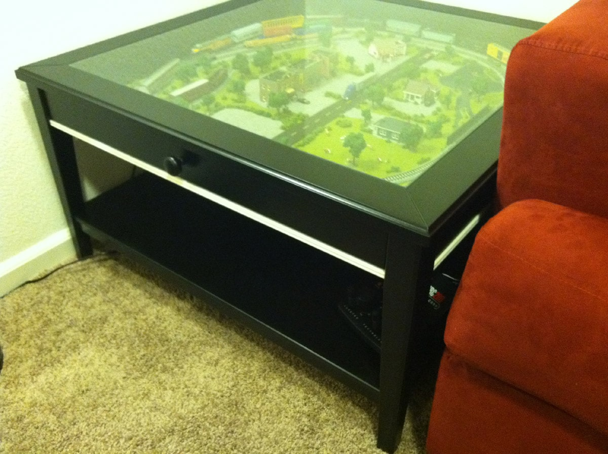 Ikea Liatorp Hacked Coffee Table