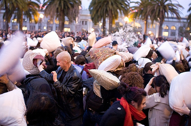 International Pillow Fight Day: Feathers Are Everywhere
