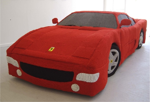 Yarn Ferrari: Carefully Knitted Using 12 Miles Of Yarn