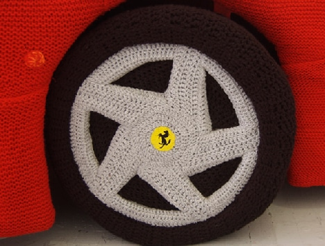 Knitted Yarn Full Size Ferrari