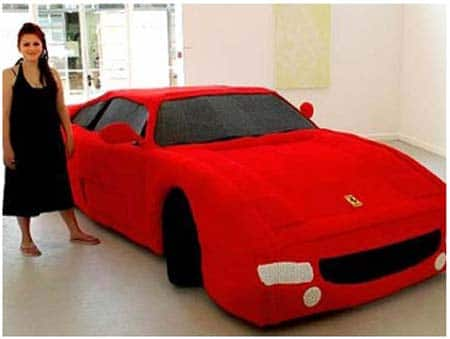 Knitted Yarn Full Size Ferrari