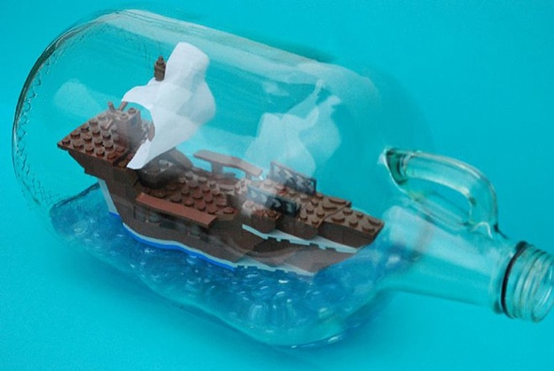 How To: Build A Lego Ship In A Bottle