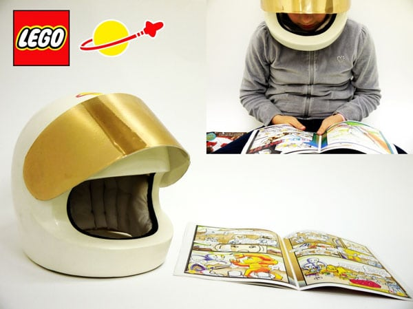 Life Size Lego Helmet: The ONLY Way To Listen To Audio Books