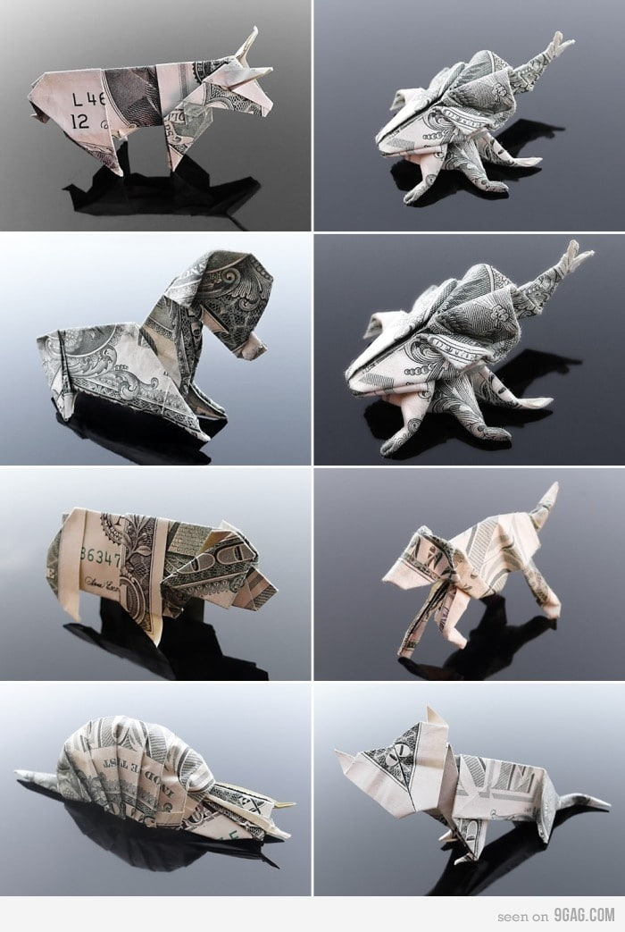 Money Bill Animal Art Folding