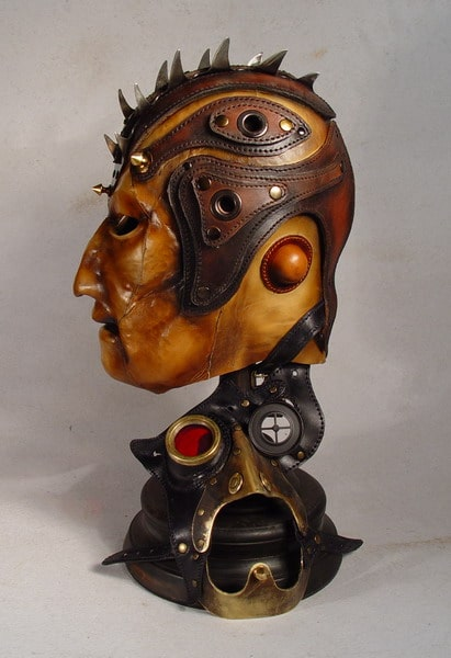 Mowhawk Steampunk Leather Mask Design