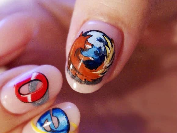 Browser Inspired Nail Art
