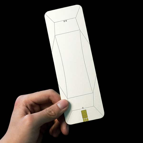 Origami Paper Cell Phone Concept