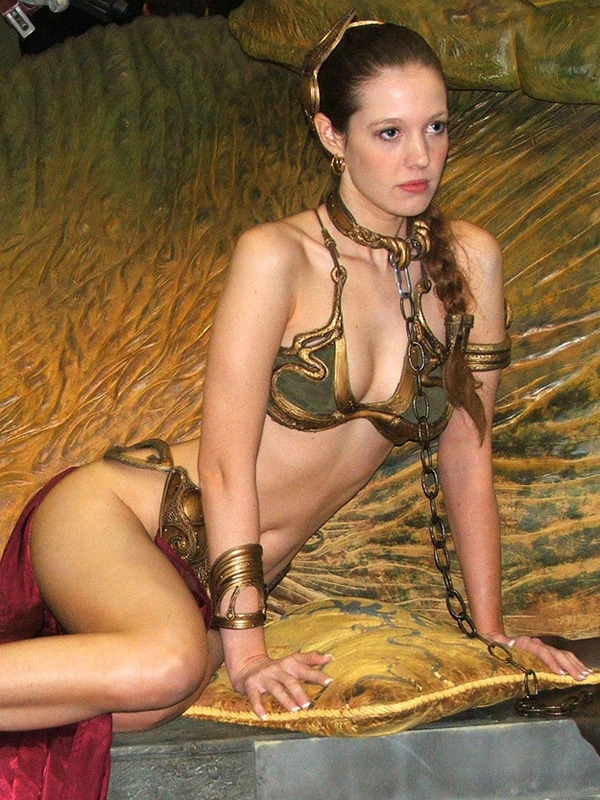 princess leia slave costume. 5. 8-Bit Stockings