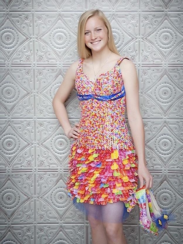Candy Wrapper Dress and Handbag