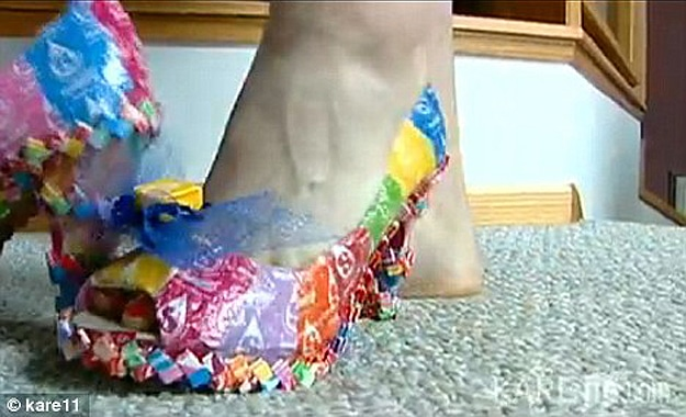 Candy Wrapper High Heels