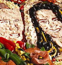 Royal Wedding In Pizza Design