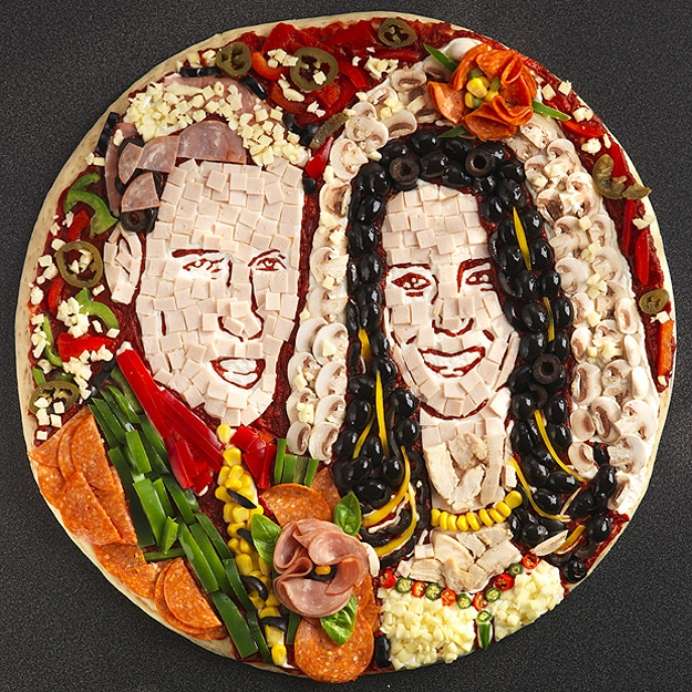 William And Kate On Pizza