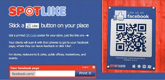 Create Your Own QR Code Like Button For Facebook Fans To Scan