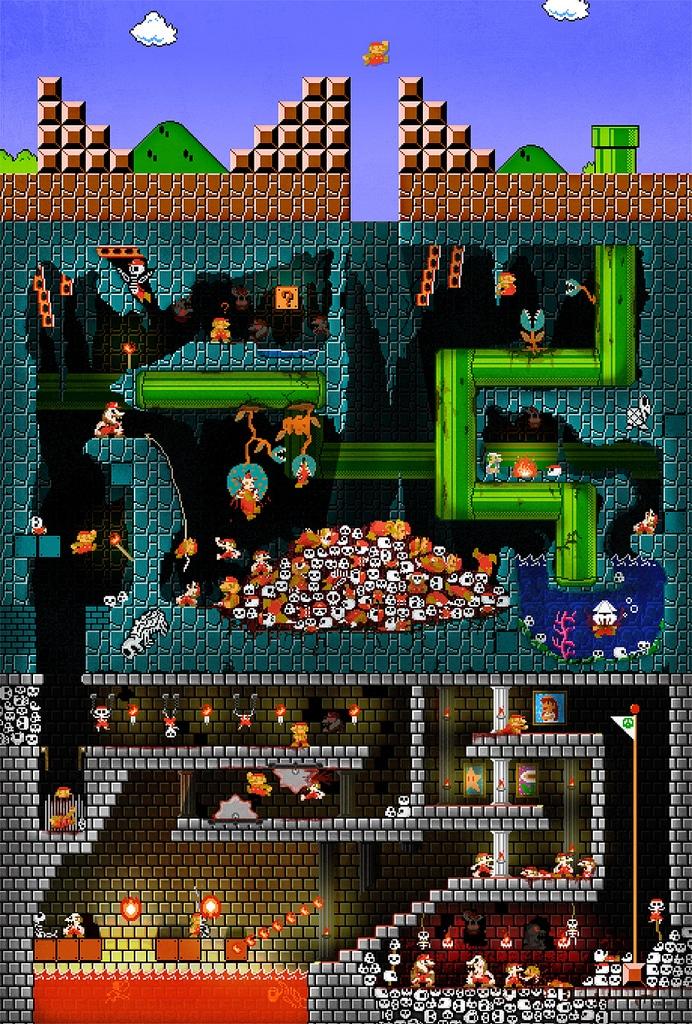 Super Mario Torture Death Pit