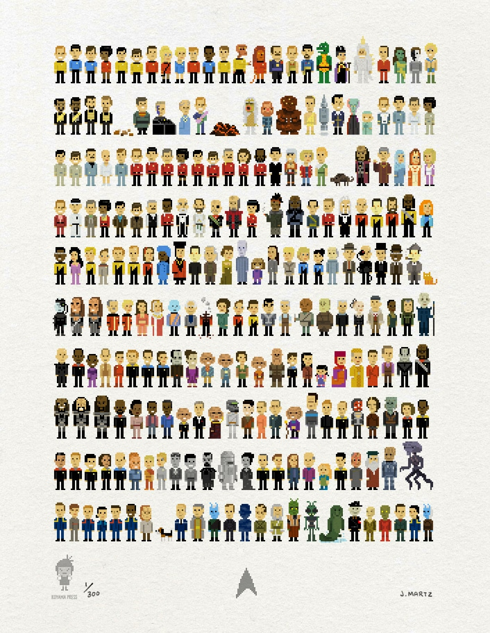 Trexels Star Trek Pixelated Characters