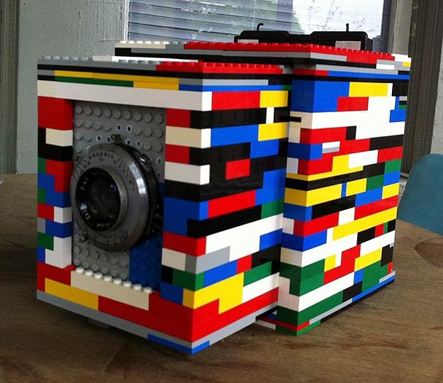 Camera Made From Lego Bricks