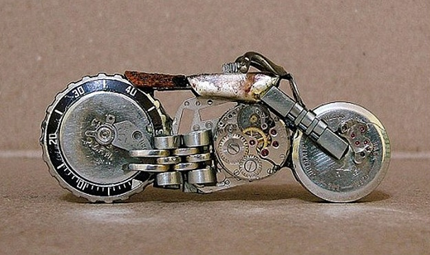 Marvelous Mini Motorcycles Created From Old Watches