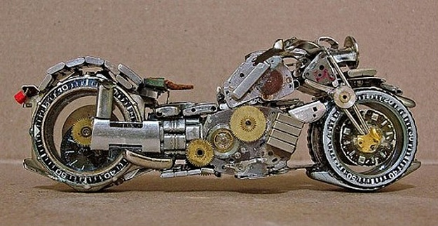 Old Watches Become Motorcycles