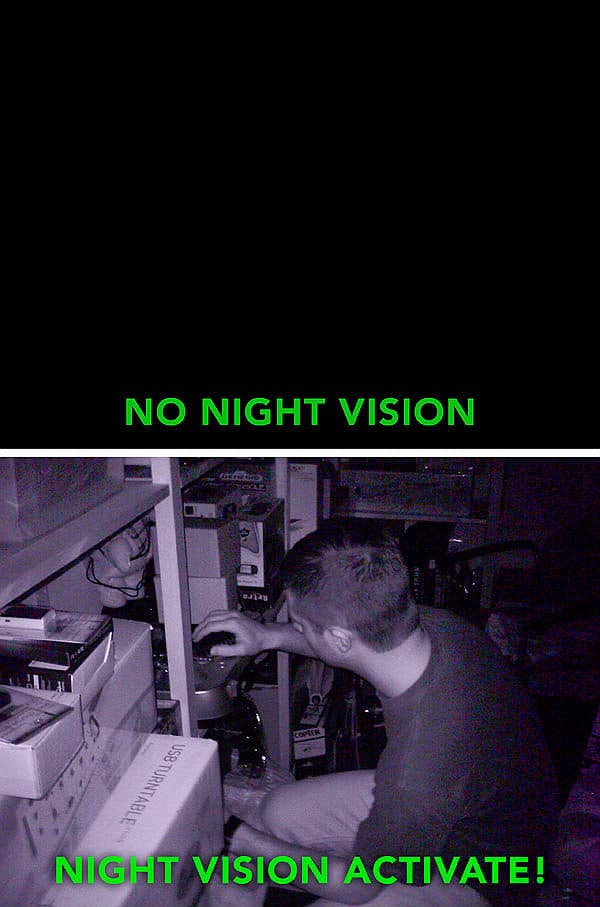 night vision camera in use