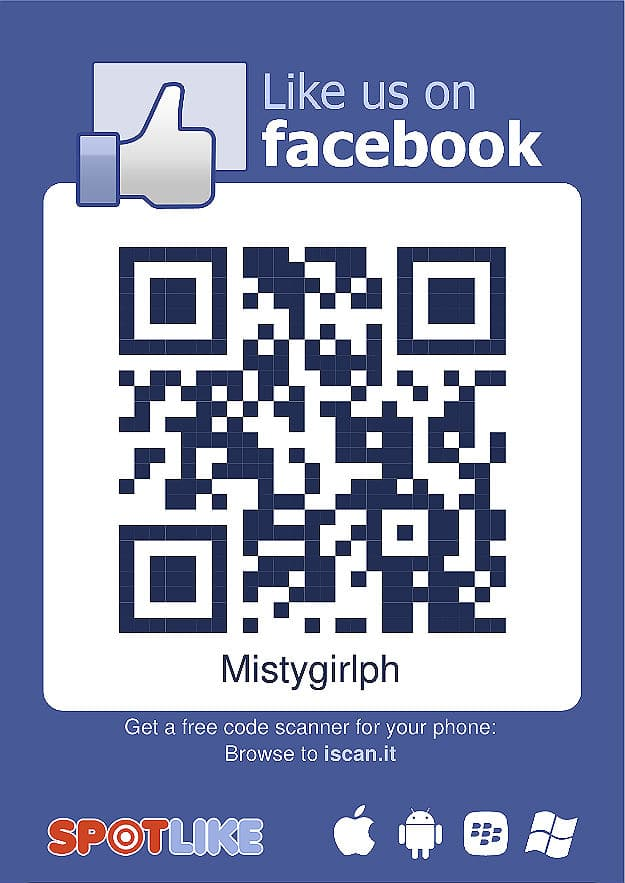 Create your own qr code like button for facebook fans to for Like us on facebook sticker template