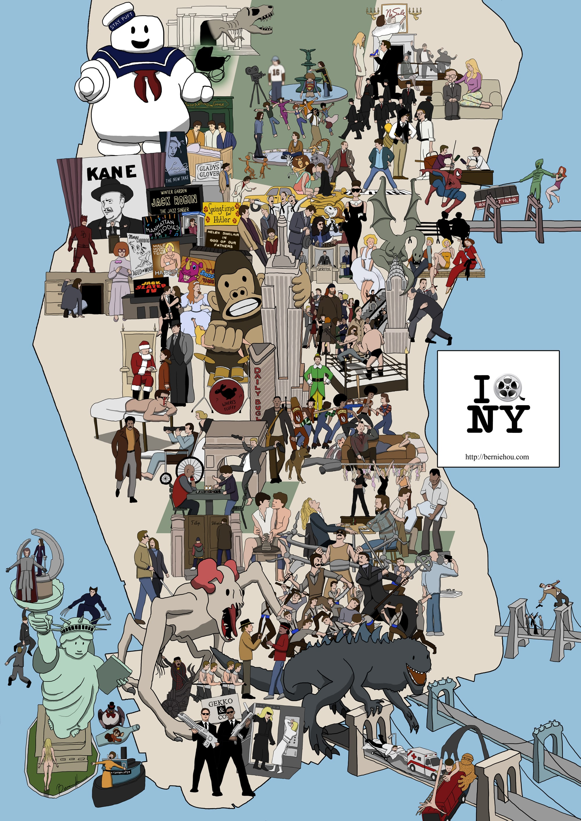 Name The Flick: 91 Cult Movies On A New York Map