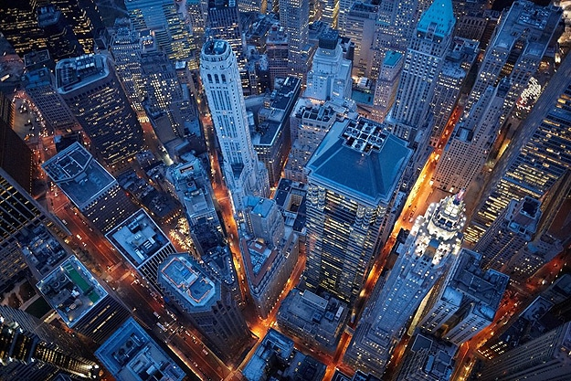 Nighttime In The City: Breath Taking Aerial Photographs
