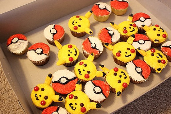 Cupcakes Decorated Like Pokemon