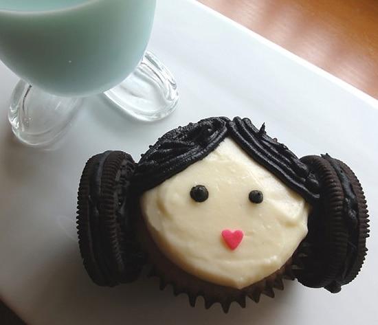 Princess Leia Decorated Cupcake