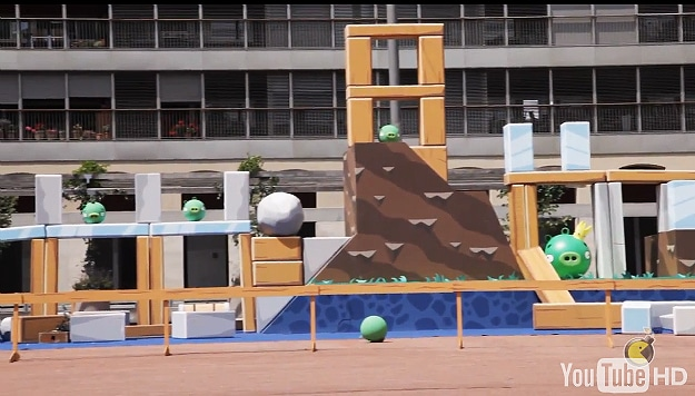 Angry Birds Reenacted Game Play
